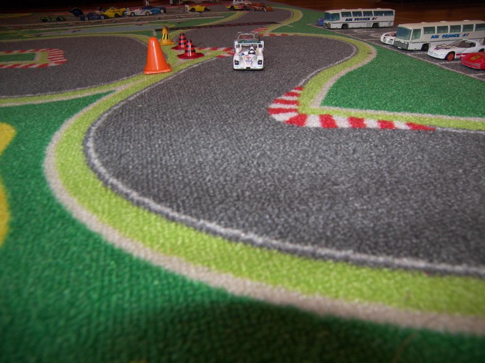 tapis de jeu circuit de voiture 130 cm x 200 cm tapis