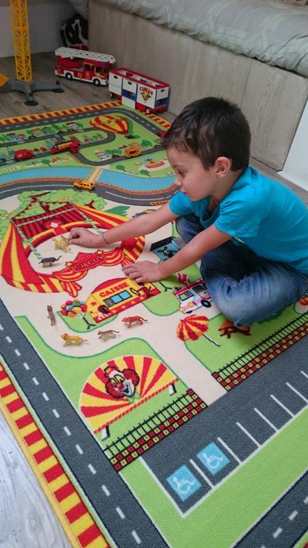 tapitom tapis de jeu cirque pour enfant 130 x 200 cm. Black Bedroom Furniture Sets. Home Design Ideas