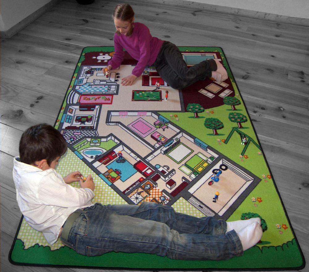 tapitom tapis de jeu plan de la maison 130 x 200 cm. Black Bedroom Furniture Sets. Home Design Ideas