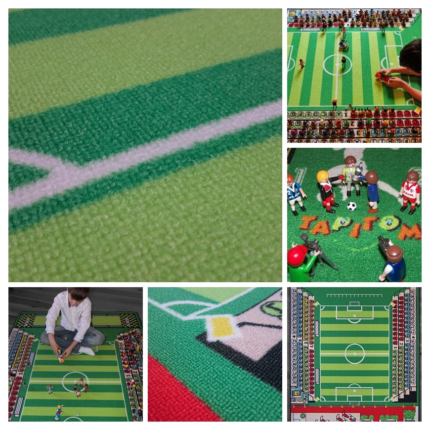Tapis enfant  football - 130 x 200 cm